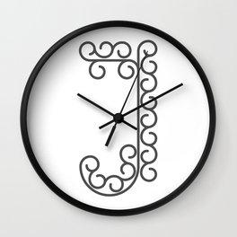 "Letter ""J"" in beautiful design Fashion Modern Style Wall Clock"