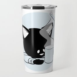 Morning Cat Travel Mug
