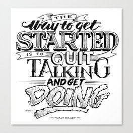 Quote - Walt 2 - Typedesign Canvas Print