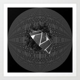 The dark moon over helis shadow Art Print
