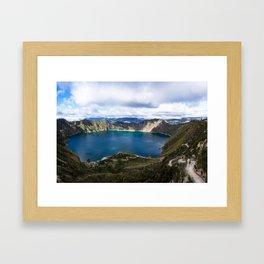 Quilotoa, Ecuador Framed Art Print