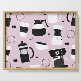 Do you even coffee? (blush pink) Serving Tray