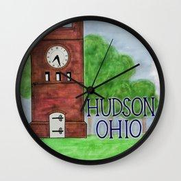 Hudson Ohio Clock Tower Wall Clock