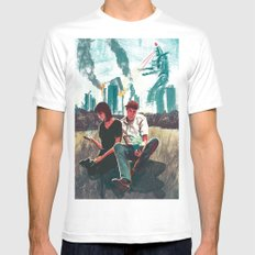 Modern Love MEDIUM White Mens Fitted Tee
