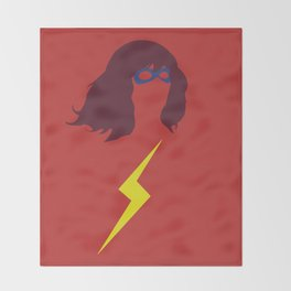 Ms. Kamala Khan Throw Blanket