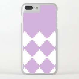Abstract geometric pattern - purple and white. Clear iPhone Case