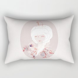 Portrait with Chick Rectangular Pillow