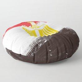 Egypt's Flag Design Floor Pillow