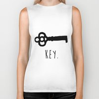 key Biker Tanks featuring Key. by Ida Christine