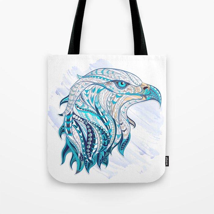 Blue Ethnic Eagle Tote Bag