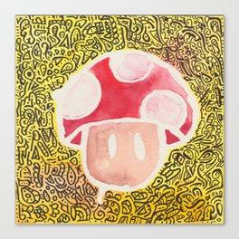 One Upper Mushroom zendoodle Canvas Print