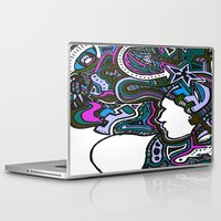 techno Laptop & iPad Skins featuring Purple Techno by Madison R. Leavelle