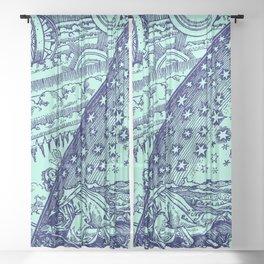 "Flammarion Woodcut (1888) ""Cosmic design"" (4) Sheer Curtain"