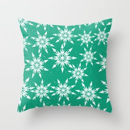 Classic Snowflakes Contemporary Christmas Pattern Throw Pillow