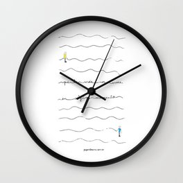 """So may life join us again sometime"" Wall Clock"