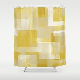 Modern Abstract No. 19 | Citron Shower Curtain