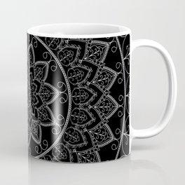 Black and White Lace Mandala Coffee Mug