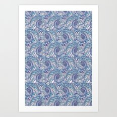 Peacock Swirl - original Art Print