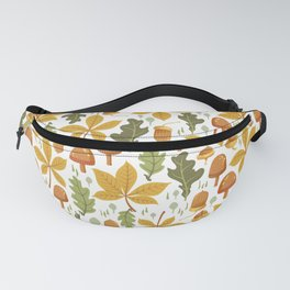 Autumn Forest Floor Pattern - White Fanny Pack