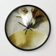 Zen Dog Wall Clock