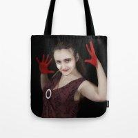 vampire Tote Bags featuring vampire by Joasiekk