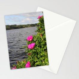 Seaside Wild Roses Stationery Cards