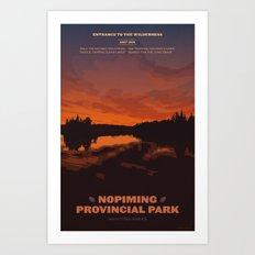 Nopiming Provincial Park Poster Art Print