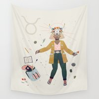 taurus Wall Tapestries featuring Taurus by LordofMasks