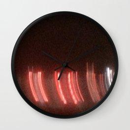 Abstracte Light Art in the Dark 11 Wall Clock
