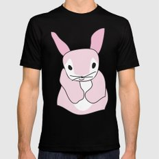 Pink Bunny Rabbit Mens Fitted Tee Black SMALL