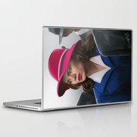 peggy carter Laptop & iPad Skins featuring Agent Carter by DandyBee