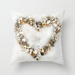 Holey Heart Throw Pillow