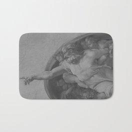 Black White Sistine Chapel Bath Mat