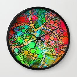 Colorful Bubble Pattern Abstract Wall Clock