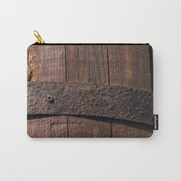 Old wood and rusty metal of a barrel Carry-All Pouch