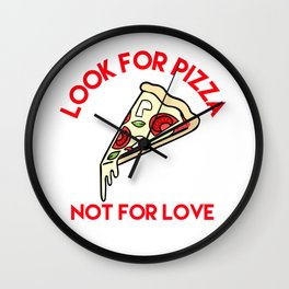Pizza > Love Wall Clock