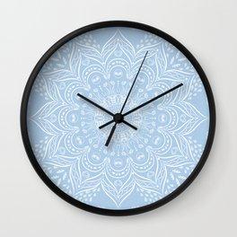 Baby Blue Boho Mandala Wall Clock