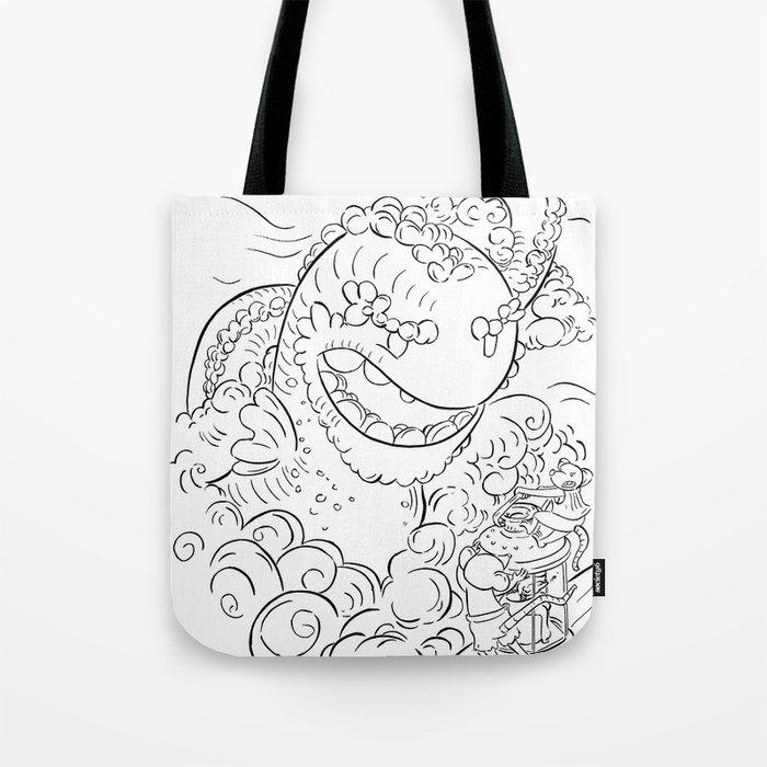 Sea Serpent - ink Tote Bag