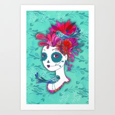 Day of The Dead Dreamer Art Print