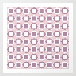 Candy Sweets Pink Champagne Pattern Art Print