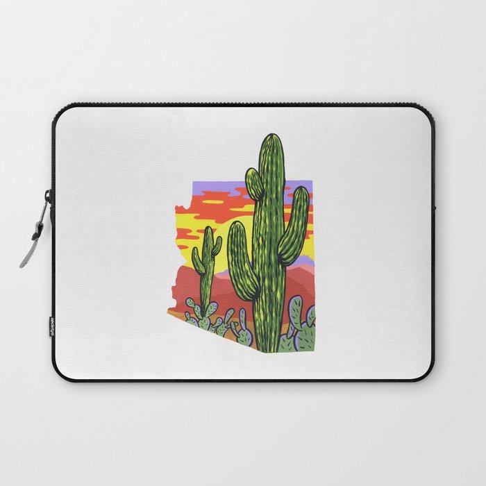 Arizona Saguaro Sunset Laptop Sleeve