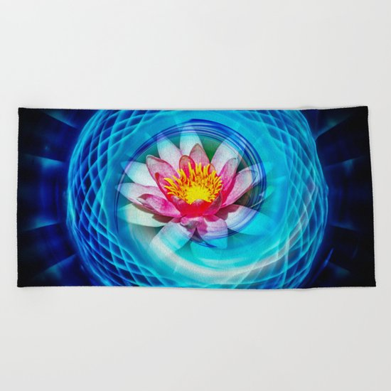 Wellness Water Lily Beach Towel