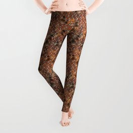 Oil Cans on Distressed Diamond Plate Leggings