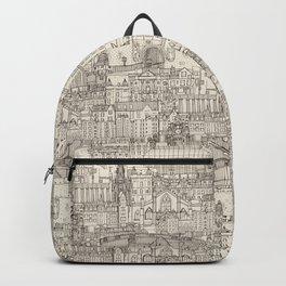 Edinburgh toile natural Backpack