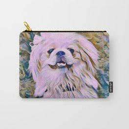 pekingese at the park Carry-All Pouch