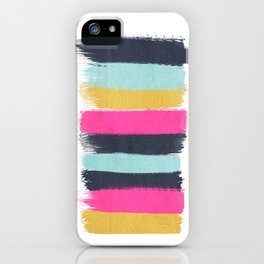 Inez - Brushstroke print in bold, modern colors iPhone Case