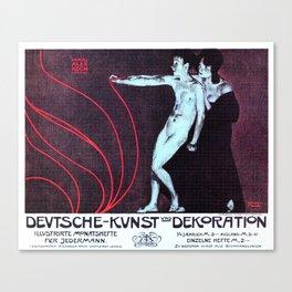 1898 German Art and Illustration Magazine ad  Canvas Print