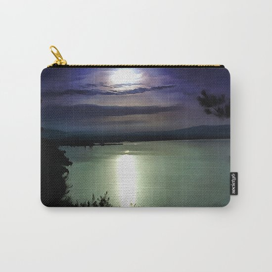 Blue Coastal Sunset Carry-All Pouch