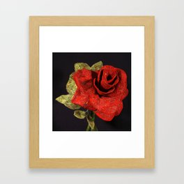 By Any Other Name (Red Rose) Framed Art Print