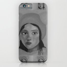 Girl in the Hat by Lu iPhone Case